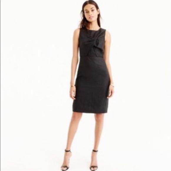 J. Crew Dresses & Skirts - J Crew NWT Black Drape Knot linen dress
